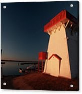 Lighthouse And Marina At Hecla In Manitoba Acrylic Print