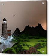 Lighthouse Landscape By John Junek Fine Art Prints And Posters Acrylic Print