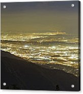 Lights Of Los Angeles, California Acrylic Print