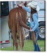 Lil' Cowgirl Acrylic Print