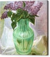 Lilacs In A Glass Vase Acrylic Print