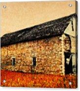 Lime Stone Barn Acrylic Print by Julie Hamilton