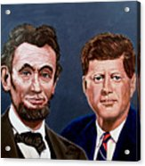 Lincoln And Kennedy Acrylic Print