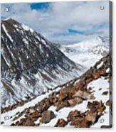 Lincoln Peak Winter Landscape Acrylic Print