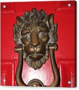 Lion Head Door Knocker Acrylic Print