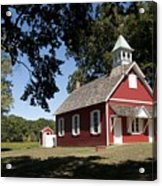 Little Red School House  Acrylic Print by Charles Kraus