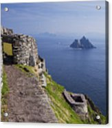 Little Skellig Island, From Skellig Michael, County Kerry Ireland Acrylic Print