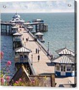 Llandudno Pier North Wales Uk Acrylic Print