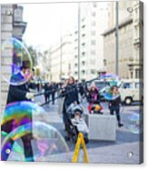 London Bubbles 8 Acrylic Print
