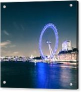 London Cityscape On River Thames Acrylic Print