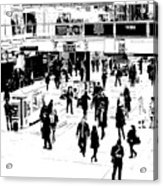 London Commuter Art Acrylic Print