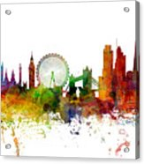 London England Skyline Panoramic Acrylic Print