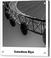 London Eye, London, Uk. Acrylic Print