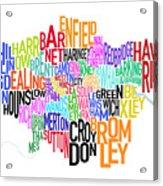 London Uk Text Map Acrylic Print