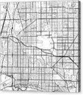 Long Beach California Usa Light Map Acrylic Print