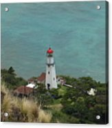Looking Down At The Lighthouse Acrylic Print