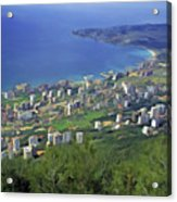 Looking Over Jounieh Bay From Harissa Acrylic Print