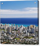 Lookout View Of Honolulu Acrylic Print