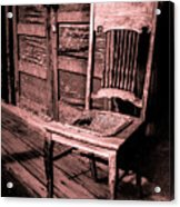 Loomis Ranch Chair Acrylic Print