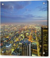 Los Angeles Downtown Nightscape Acrylic Print