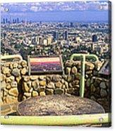 Los Angeles Skyline From Mulholland Acrylic Print