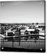 Lotus Isle Houseboats Acrylic Print