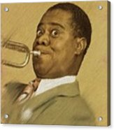 Louis Armstrong, Music Legend Acrylic Print