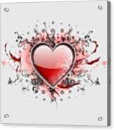 Hearts 8 T-shirt Acrylic Print