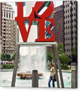 Love Sculpture Acrylic Print