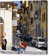 Lovers In Santa Croce Acrylic Print
