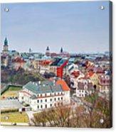 Lublin Old Town Panorama Poland Acrylic Print