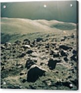 Lunar Rover At Rim Of Camelot Crater Acrylic Print