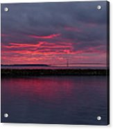 Mackinac Bridge Sunset Acrylic Print