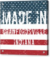 Made In Crawfordsville, Indiana Acrylic Print