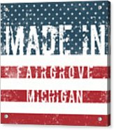 Made In Fairgrove, Michigan Acrylic Print