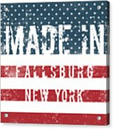 Made In Fallsburg, New York Acrylic Print
