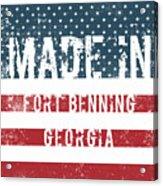 Made In Fort Benning, Georgia Acrylic Print