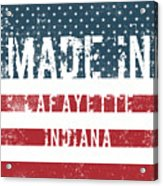 Made In Lafayette, Indiana Acrylic Print