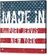 Made In Port Jervis, New York Acrylic Print