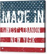Made In West Lebanon, New York Acrylic Print