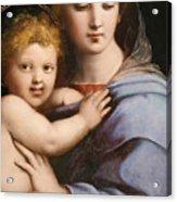 Madonna Of The Candelabra Acrylic Print