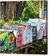 Madrid Mailboxes Acrylic Print