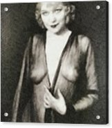 Mae West, Vintage Actress Acrylic Print