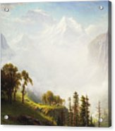 Majesty Of The Mountains Acrylic Print by Albert Bierstadt