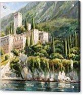 Malcesine Castle, Lago Di Garda Acrylic Print