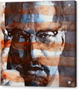 Malcolmx Acrylic Print by Paul Lovering