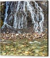 Cascades Of Maligne Canyon Acrylic Print