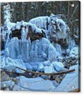 Maligne Canyon Frozen Acrylic Print