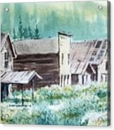 Mammoth Ghost Town Montana Acrylic Print