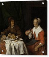 Man And Woman At A Meal Acrylic Print